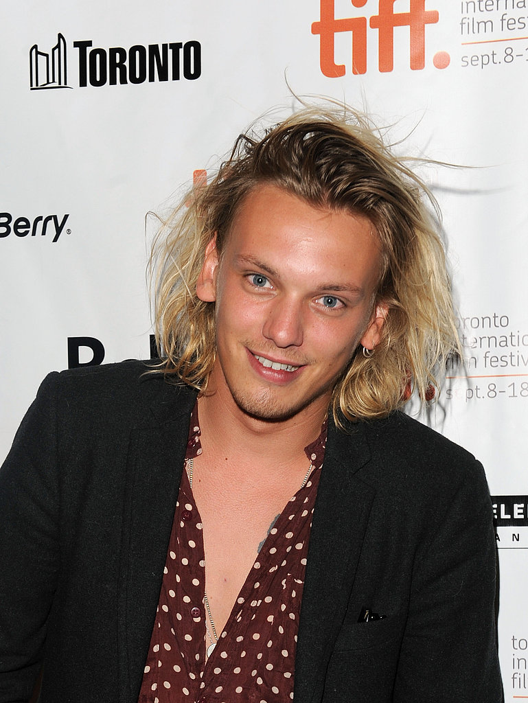 Jamie Campbell Bower wore polka-dots to the premiere.