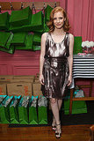 Bryce Dallas Howard showed off a very chic play on metallics while celebrating women in film with Kate Spade.