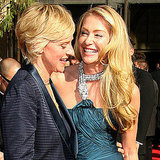 Portia de Rossi beamed with then-girlfriend and now-wife Ellen DeGeneres on the 2007 red carpet.
