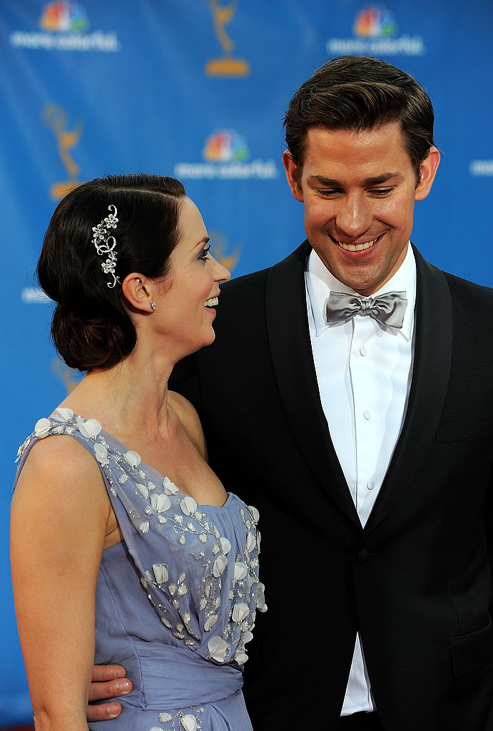 Newlyweds Emily Blunt and John Krasinski shared a moment at last year's show.