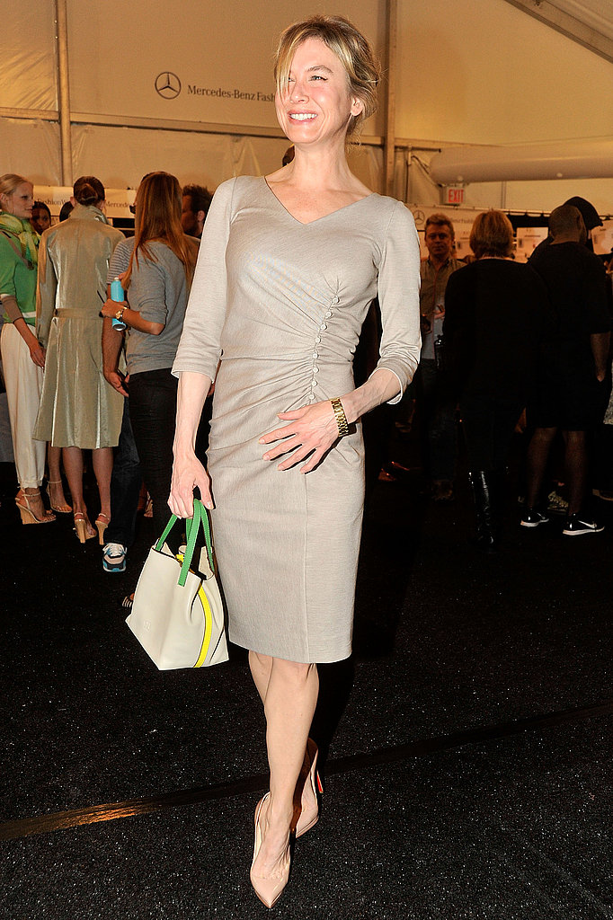 Renée Zellweger at Fashion Week.