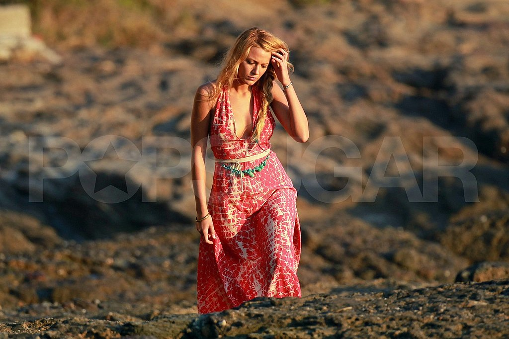 Blake Lively filming Savages in LA.