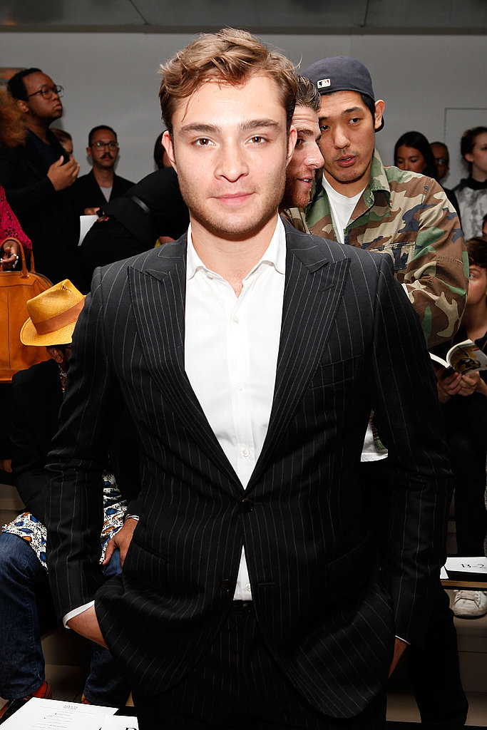 Ed Westwick at the Simon Spurr Spring 2012 fashion show.