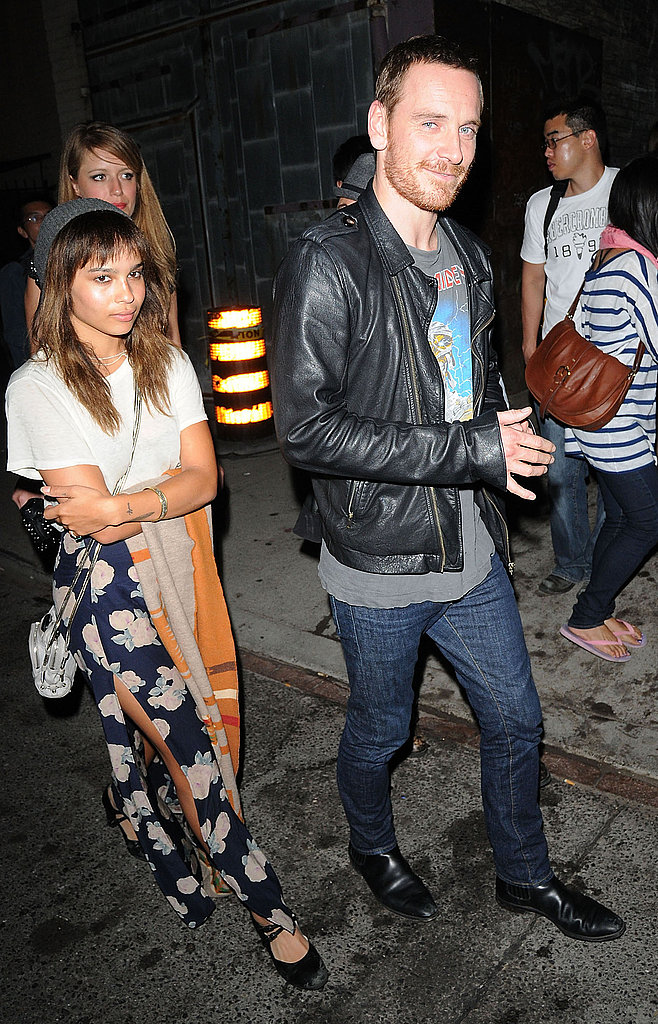 Michael Fassbender and girlfriend Zoe Kravitz.