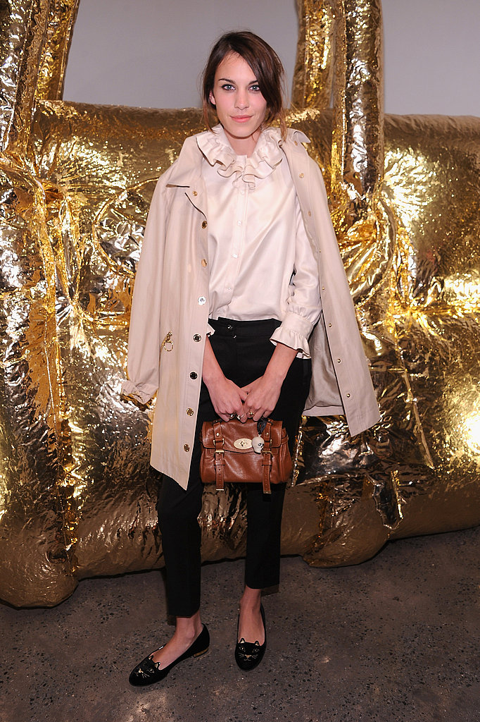 Alexa Chung at the Mulberry party.