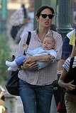Jennifer Connelly held Agnes Bettany.