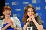 Bryce Dallas Howard and Anna Kendrick shared a laugh at the 50/50 press conference.