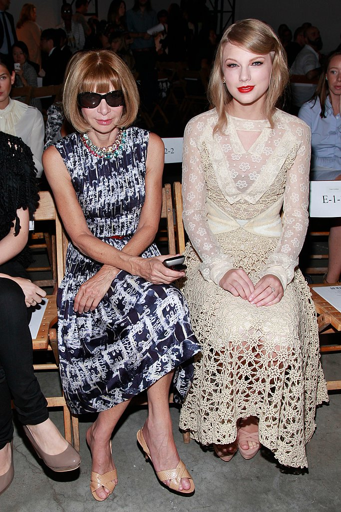 Taylor Swift and Anna Wintour at the Rodarte show.
