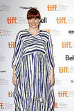Bryce Dallas Howard in a striped dress.