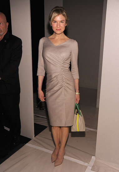 Renée Zellweger stepped out to support Carolina Herrera.