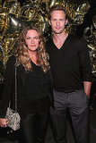 Mulberry's creative director, Emma Hill, and Alexander Skarsgard take in the festivities.