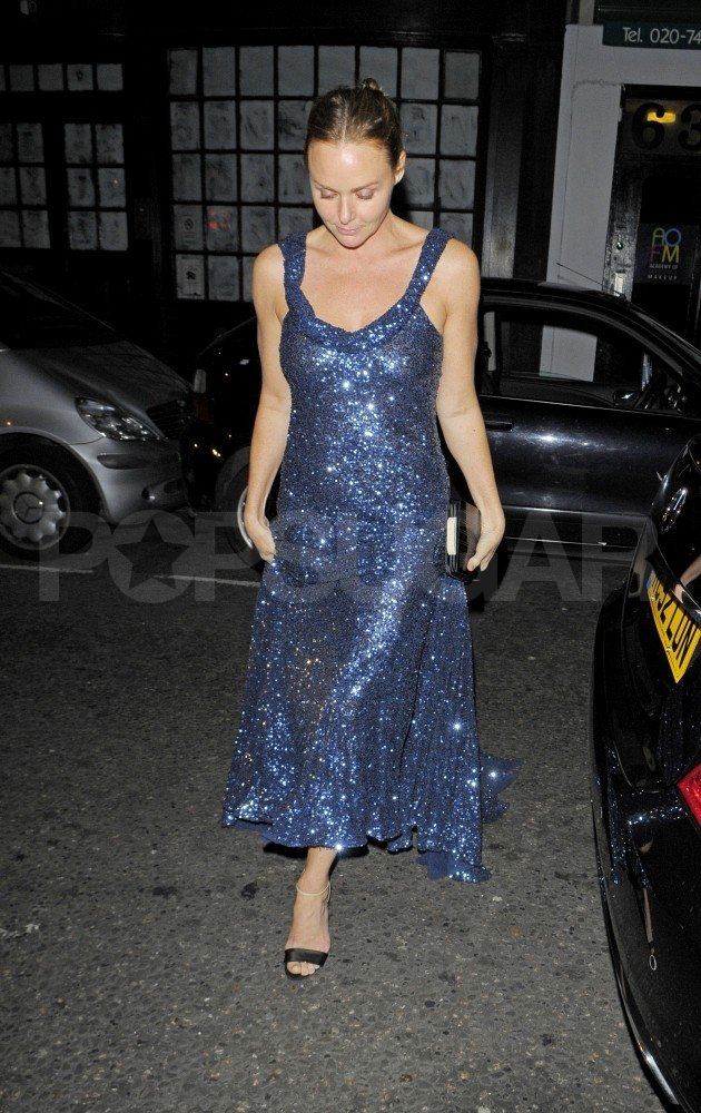 Stella McCartney leaves her birthday party.