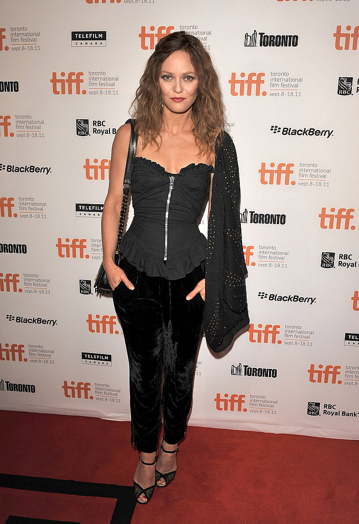 Vanessa Paradis on the red carpet.