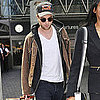 Robert Pattinson Landing at LAX Pictures