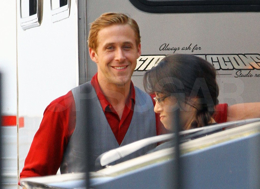 Ryan Gosling in old time costume.