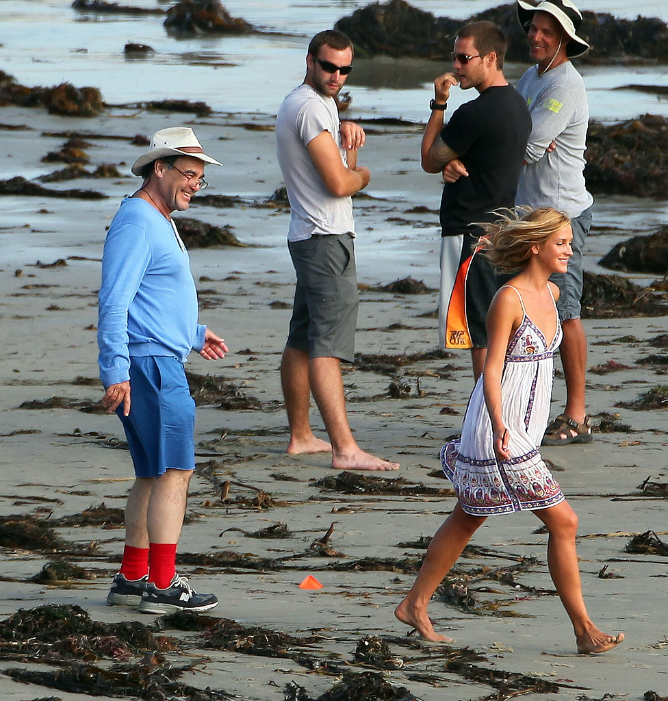Oliver Stone wore shorts for his day at the beach.