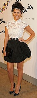 Kourtney Kardashian in Lace Alice and Olivia Dress