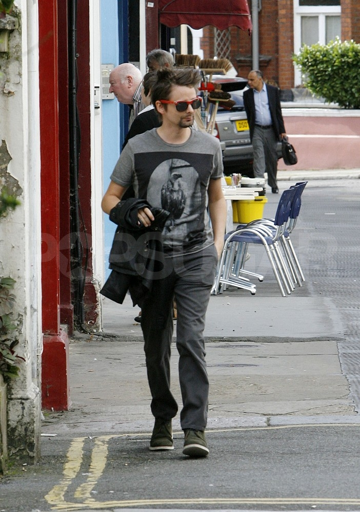 Matt Bellamy at breakfast in London.