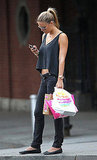Bar Refaeli Bares Her Belly During a Smiley Stroll in NYC