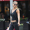 Bar Refaeli Bare Stomach Pictures in NYC