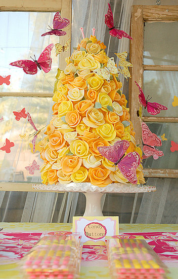 Floral Butterfly Birthday Cake