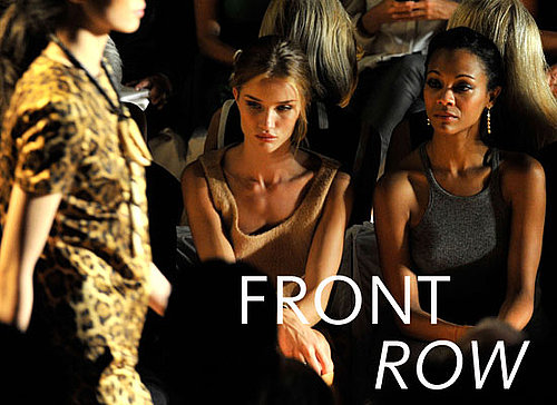 Pictures of Celebrities Front Row at New York Fashion Week: Rosie Huntington-Whiteley, Mary-Kate and Ashley Olsen & Zoe Saldana