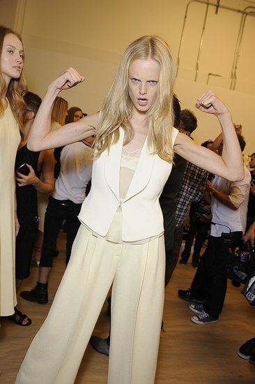 Giggles and Glamour — Backstage at Calvin Klein, Ralph Lauren, and L'Wren Scott