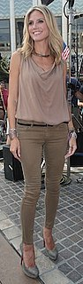 Heidi Klum in Haute Hippie Top and Gray Christian Louboutins