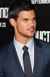 Taylor Lautner went for a shiny blue suit.