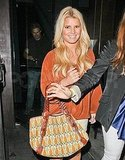 Jessica Simpson leaving Eric Johnson's birthday party.