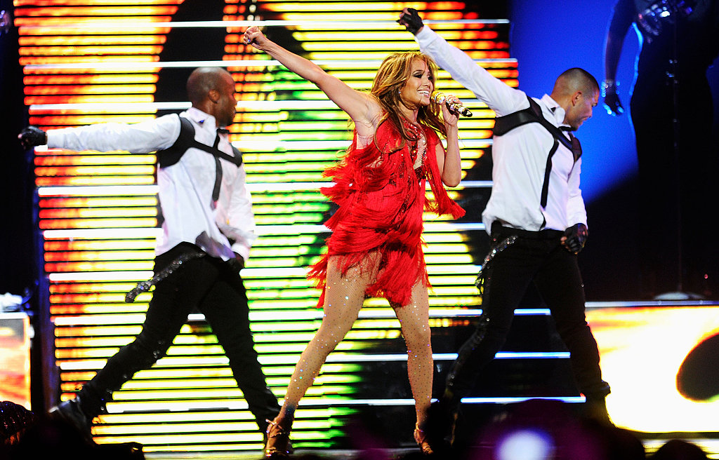 J Lo's high energy choreography got the crowd excited.
