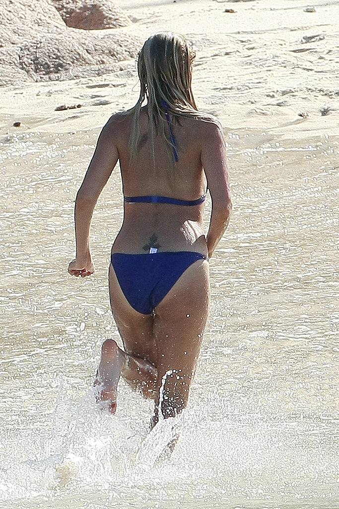 Nicole Richie showed off her tattoo in a bikini.