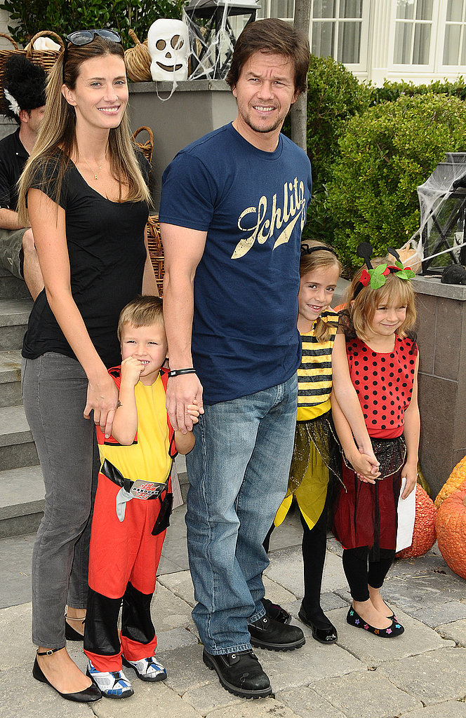 Mark Wahlberg, Rhea Durham, and Kids Michael and Ella