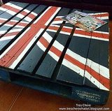 $14.00 Union Jack Pallet Coffee Table