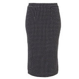 The pencil skirt gets a cute update in smart polkadots.Topshop Polkadot Pencil Skirt (approx $40)