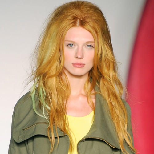 The Punk-Meets-Priscilla Presley Hair at Mulberry