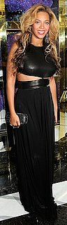 Beyonce in Black Cutout Michael Kors Dress