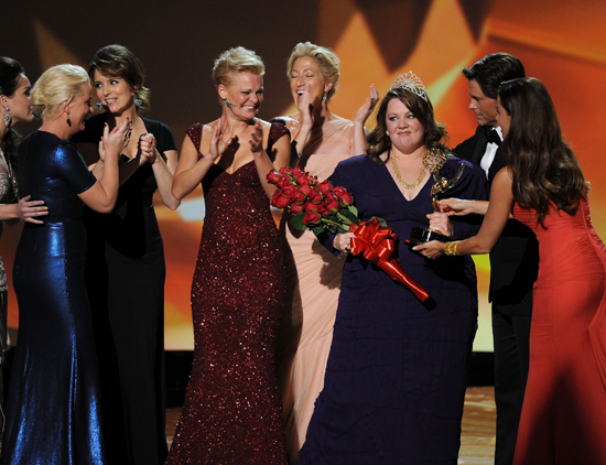 """It's my first and best pageant ever."" — Best actress in a comedy winner Melissa McCarthy, riffing on the pageant-spoofing bit she and the other nominees had just done."