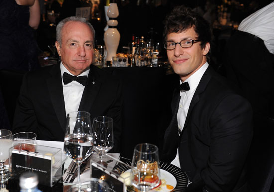 Andy Samberg sat next to Lorne Michaels at the Governors Ball.