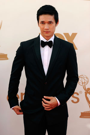 Glee star Harry Shum Jr. wore a classic black tux.