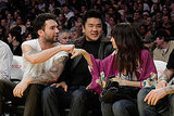 Nicole Richie gave Maroon 5's Adam Levine a fist bump during a December 2009 Lakers game.