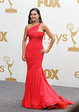 Sofia Vergara in the Emmys press room.