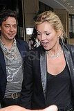 Kate Moss in London with Jamie Hince.