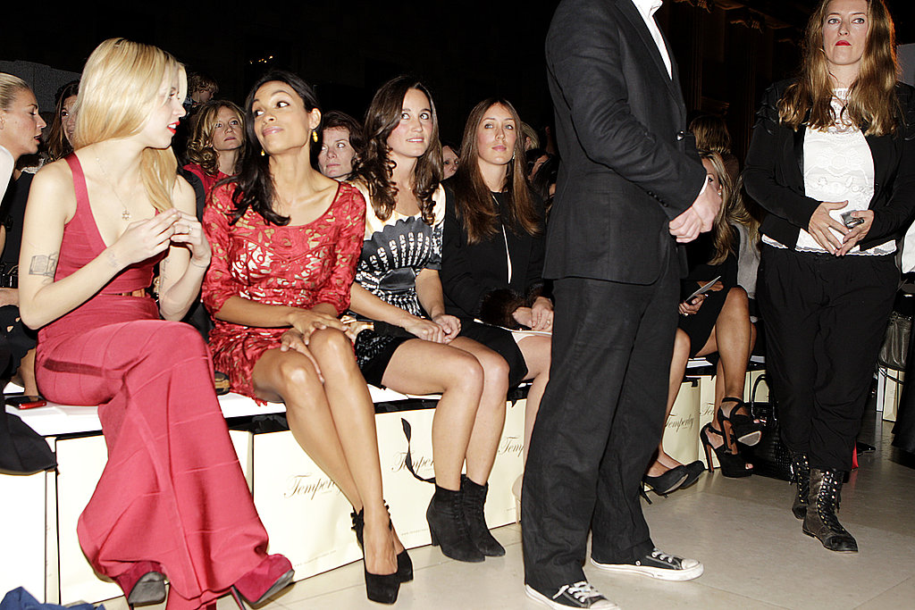 Pippa Middleton was seated next to Rosario Dawson.