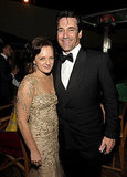 Jon Hamm and Elisabeth Moss after the Emmys.