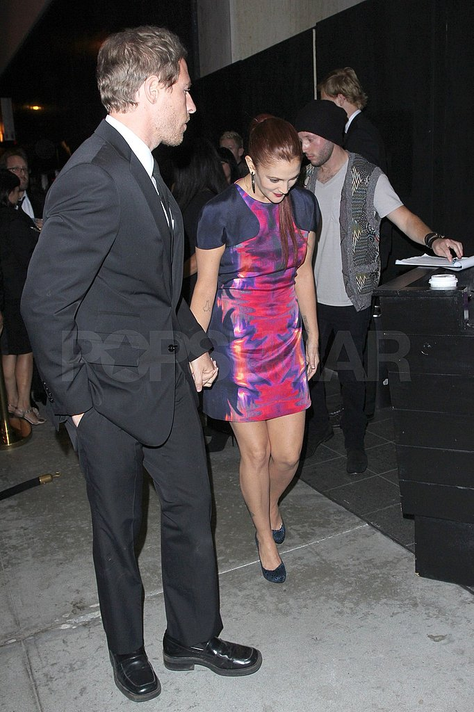 Drew and Will arrived at Trousdale for an Emmy Awards afterparty.