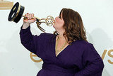 Melissa McCarthy in the Emmys press room.