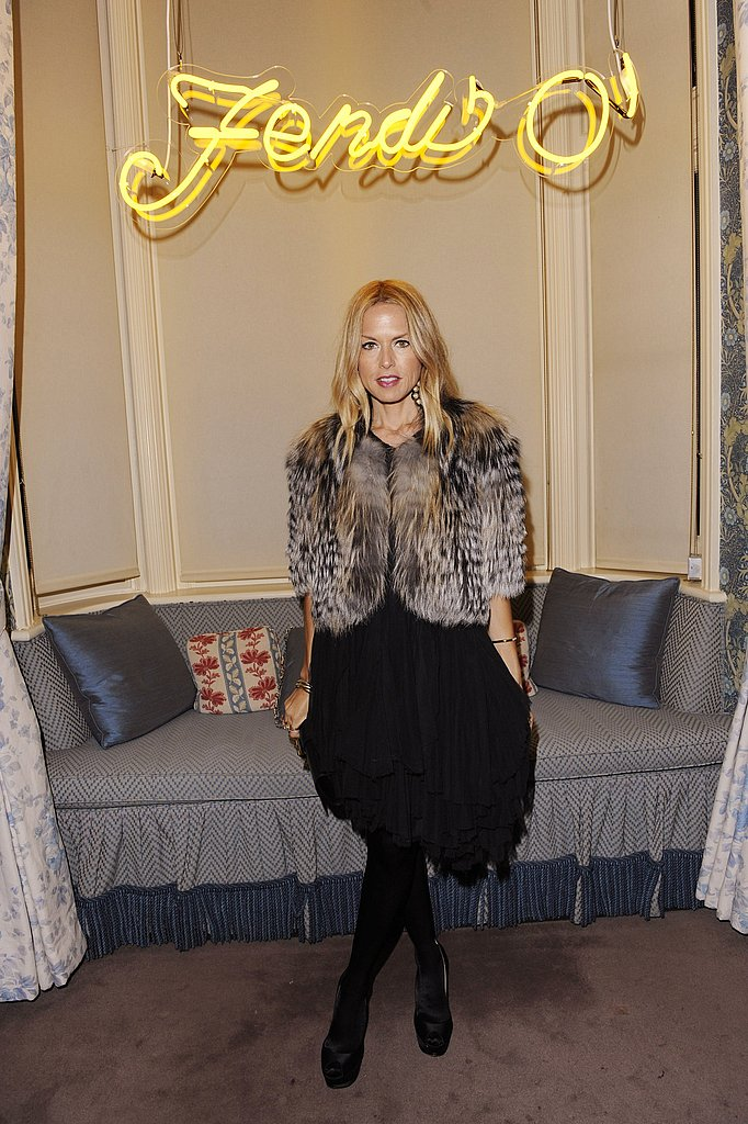 Rachel Zoe at the Fendi store in London.