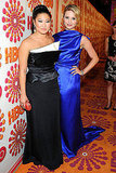 Jenna Ushkowitz and Dianna Agron at the Emmys HBO party.