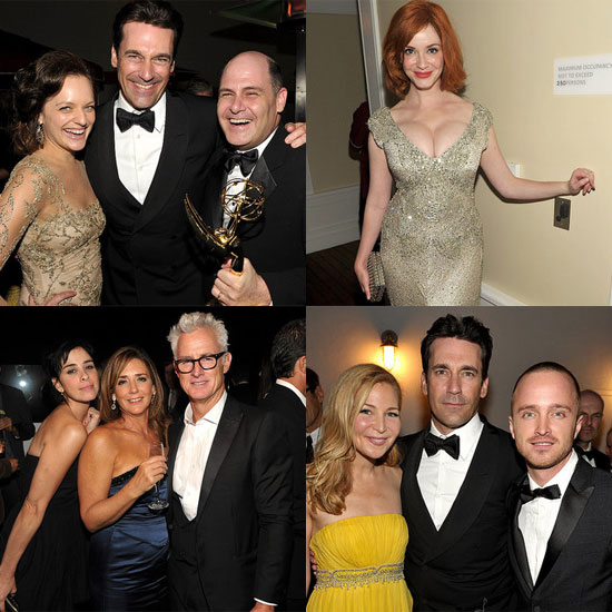 Jon Hamm and Christina Hendricks Let Loose at the AMC Emmys Bash